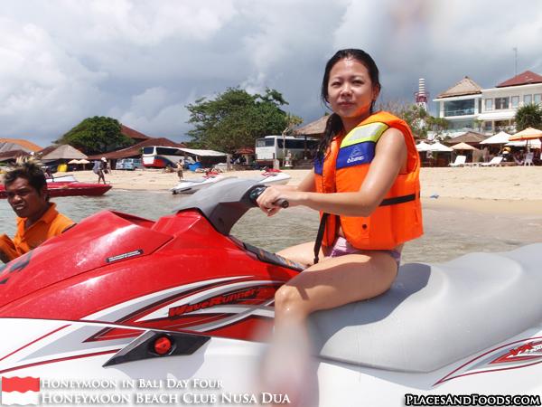 Jet skiing at Nusa Dua