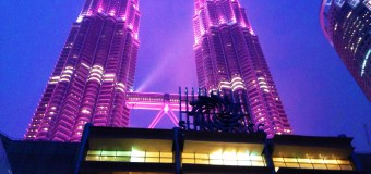 Petronas Twin Towers Turn Pink for ESTEE LAUDER Breast Cancer Awareness
