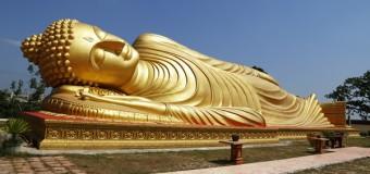 Reclining Buddha at Wat Phranon Laem Pho, Ko Yo, Songkhla