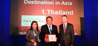Thailand won Most Popular Tourist Destination in Asia by Go Asia Award at ITB 2014