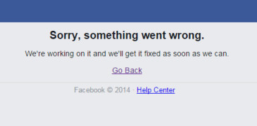 Facebook and Instagram down at 27th January 2015