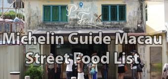 Michelin Guide Macau Street Food List