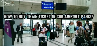 How to buy train ticket in CDG Airport Paris?