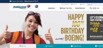 Malaysia Airlines Happy 100th Birthday Boeing Sale