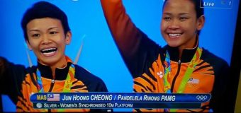 Pandelela Rinong and Jun Hoong Cheong Won Silver for Women's Synchronised 10m Platform Final Rio 2016 Olympic