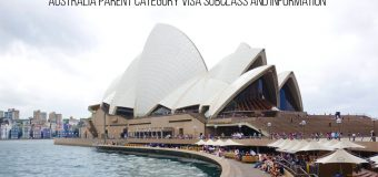 Australia Parent Category Visa Subclass and Information