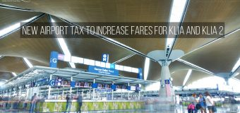 New Airport Tax to Increase Fares for KLIA and KLIA 2