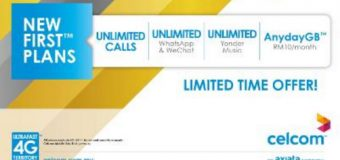 Celcom New FIRST Plans Start from RM 80 for 20GB
