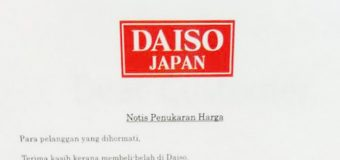Daiso Japan in Malaysia Will Increase Price in March 2017