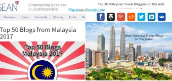 Listed in Top 30 Travel Blogs and Top 50 Blogs in Malaysia