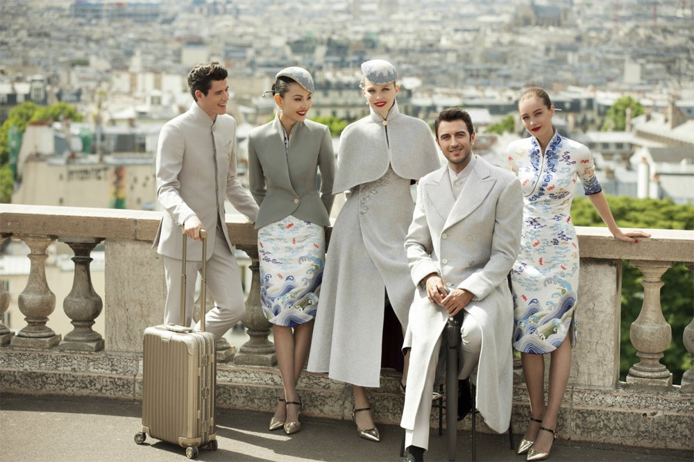 Hainan Airlines' new uniforms at Paris Couture Week