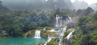 The Waterfall of Detian in China and Ban Gioc in Vietnam