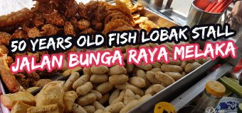 50 years old Fish Lobak Stall in Jalan Bunga Raya Melaka