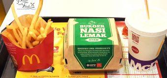 Nasi Lemak Burger McDonald's Malaysia Review