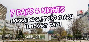 7 Days 6 Nights Hokkaido Sapporo Otaru Itinerary Day 1
