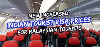 New Increased Indian Tourist Visa Prices for Malaysian Tourists
