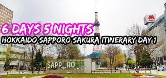 6 Days 5 Nights Hokkaido Sapporo Otaru Itinerary Day 1