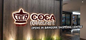 COCA Restaurant opens in Bangsar Shopping Centre Malaysia