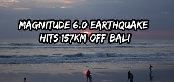 Magnitude 6.0 Earthquake Hits 157km Off Bali