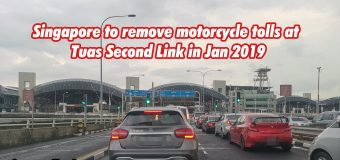 Singapore to remove motorcycle tolls at Tuas Second Link in Jan 2019
