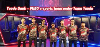 Yoodo Gank – PUBG e-sports team under Team Yoodo